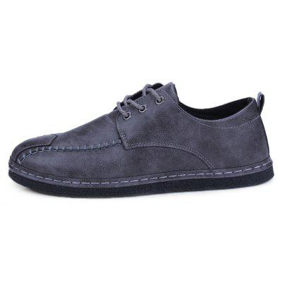 Men Simple Modern Classic Stitching Casual Leather ShoesCasual Shoes<br>Men Simple Modern Classic Stitching Casual Leather Shoes<br><br>Closure Type: Lace-Up<br>Contents: 1 x Pair of Shoes, 1 x Box<br>Function: Slip Resistant<br>Materials: Rubber, Microfiber Leather<br>Occasion: Tea Party, Shopping, Office, Holiday, Party, Casual, Daily, Dress<br>Outsole Material: Rubber<br>Package Size ( L x W x H ): 30.00 x 20.00 x 10.00 cm / 11.81 x 7.87 x 3.94 inches<br>Package weight: 0.7000 kg<br>Pattern Type: Solid<br>Product weight: 0.6500 kg<br>Seasons: Autumn,Spring<br>Style: Modern, Leisure, Fashion, Comfortable, Casual, Business<br>Toe Shape: Round Toe<br>Type: Casual Leather Shoes<br>Upper Material: Microfiber Leather