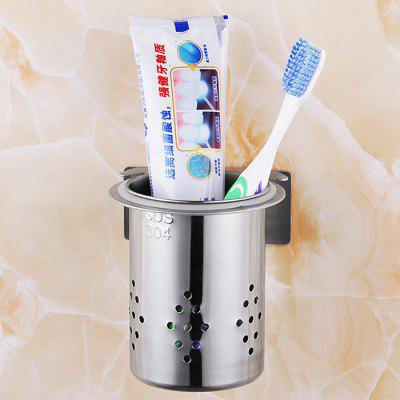 Buy Stainless Steel Circular Hole Chopsticks Tube Toothbrush Holder SILVER for $11.65 in GearBest store