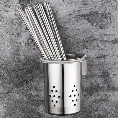 Stainless Steel Circular Hole Chopsticks Tube Toothbrush HolderToothbrush &amp; Accessories<br>Stainless Steel Circular Hole Chopsticks Tube Toothbrush Holder<br><br>Material: Stainless Steel<br>Package Contents: 1 x Toothbrush Holder, 1 x Kit of Assembly Accessories<br>Package size (L x W x H): 12.00 x 8.00 x 18.00 cm / 4.72 x 3.15 x 7.09 inches<br>Package weight: 0.2130 kg<br>Product weight: 0.1680 kg