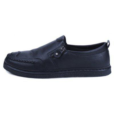 Men Vintage Soft Zipper Decor Slip-on Casual Leather ShoesCasual Shoes<br>Men Vintage Soft Zipper Decor Slip-on Casual Leather Shoes<br><br>Closure Type: Slip-On<br>Contents: 1 x Pair of Shoes, 1 x Box<br>Decoration: Zippers<br>Function: Slip Resistant<br>Materials: Rubber, PU<br>Occasion: Tea Party, Shopping, Office, Holiday, Casual, Party, Daily, Dress, Formal<br>Outsole Material: Rubber<br>Package Size ( L x W x H ): 30.00 x 20.00 x 10.00 cm / 11.81 x 7.87 x 3.94 inches<br>Package weight: 0.7000 kg<br>Pattern Type: Solid<br>Product weight: 0.6500 kg<br>Seasons: Autumn,Spring<br>Style: Modern, Business, Casual, Comfortable, Fashion, Formal, Leisure<br>Toe Shape: Round Toe<br>Type: Casual Leather Shoes<br>Upper Material: PU