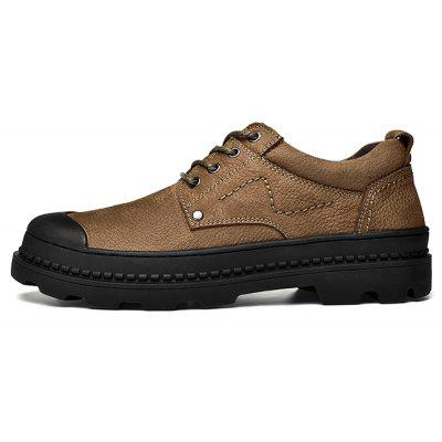 Men Versatile Outdoor Soft Crash Toe Hiking SneakersMen's Sneakers<br>Men Versatile Outdoor Soft Crash Toe Hiking Sneakers<br><br>Closure Type: Lace-Up<br>Contents: 1 x Pair of Shoes, 1 x Box<br>Function: Slip Resistant<br>Lining Material: Pigskin<br>Materials: Pigskin, Rubber, Leather<br>Occasion: Tea Party, Sports, Shopping, Riding, Party, Casual, Rainy Day, Daily, Holiday, Office, Outdoor Clothing<br>Outsole Material: Rubber<br>Package Size ( L x W x H ): 30.00 x 20.00 x 10.00 cm / 11.81 x 7.87 x 3.94 inches<br>Package weight: 0.8500 kg<br>Pattern Type: Solid<br>Product weight: 0.8000 kg<br>Seasons: Autumn,Spring<br>Style: Modern, Business, Casual, Comfortable, Fashion, Leisure<br>Toe Shape: Round Toe<br>Type: Sports Shoes<br>Upper Material: Leather