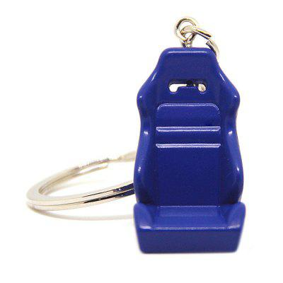 Cool 3D Metal Racing Seat Model Key Ring