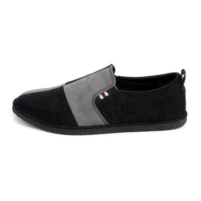 Men British Stylish Split Joint Soft Casual Flat LoafersFlats &amp; Loafers<br>Men British Stylish Split Joint Soft Casual Flat Loafers<br><br>Closure Type: Slip-On<br>Contents: 1 x Pair of Shoes, 1 x Box<br>Decoration: Split Joint,Stripe<br>Function: Slip Resistant<br>Materials: Rubber, Suede<br>Occasion: Tea Party, Shopping, Party, Office, Casual, Daily, Holiday<br>Outsole Material: Rubber<br>Package Size ( L x W x H ): 32.00 x 20.00 x 10.00 cm / 12.6 x 7.87 x 3.94 inches<br>Package weight: 0.6500 kg<br>Product weight: 0.6000 kg<br>Seasons: Autumn,Spring<br>Style: Modern, Leisure, Fashion, Comfortable, Casual<br>Toe Shape: Round Toe<br>Type: Flat Shoes<br>Upper Material: Suede