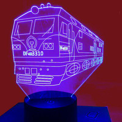 3D Lamp USB Night Light Train Color Changing DC 5V