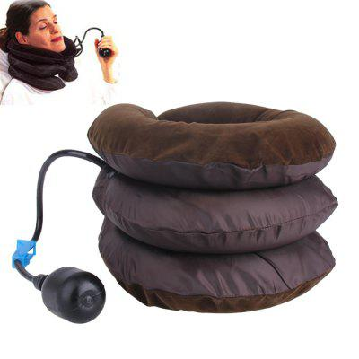 Inflatable Cervical Traction Pillow Half Velvet for Home Use