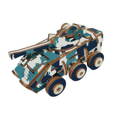 DIY 3D Wooden Explosion-proof Car Puzzle Intelligence Toy