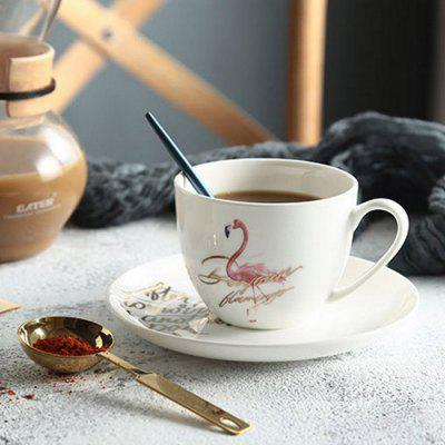 200ml Elegant Bird Design Coffee Mug Ceramic Cup with Saucer 249690801