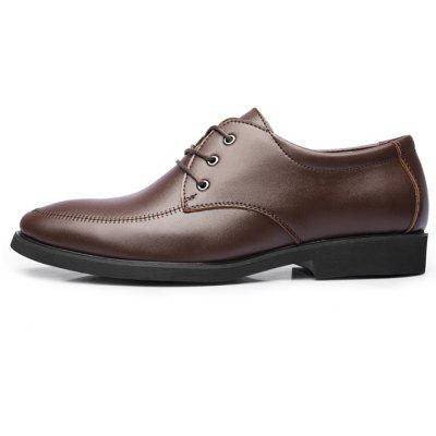 Men Simple Business Leisure Dress ShoesFormal Shoes<br>Men Simple Business Leisure Dress Shoes<br><br>Closure Type: Lace-Up<br>Contents: 1 x Pair of Shoes, 1 x Box<br>Function: Slip Resistant<br>Materials: Rubber, Microfiber Leather<br>Occasion: Tea Party, Shopping, Office, Formal, Party, Casual, Daily, Dress<br>Outsole Material: Rubber<br>Package Size ( L x W x H ): 30.00 x 20.00 x 10.00 cm / 11.81 x 7.87 x 3.94 inches<br>Package weight: 0.7500 kg<br>Pattern Type: Solid<br>Product weight: 0.7000 kg<br>Seasons: Autumn,Spring<br>Style: Modern, Leisure, Formal, Fashion, Comfortable, Casual, Business<br>Toe Shape: Round Toe<br>Type: Casual Leather Shoes<br>Upper Material: Microfiber Leather