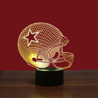 Transparent 3D Rugby 7 Colors Night Lamp