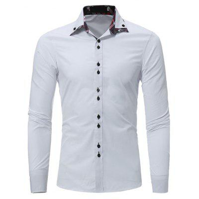 Classic Shirt with Checked Motif