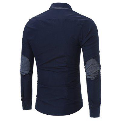 Classic Shirt with Elbow PatchesMens Shirts<br>Classic Shirt with Elbow Patches<br><br>Closure Type: Button<br>Material: Cotton, Polyester<br>Occasion: Casual<br>Package Contents: 1 x Shirt<br>Package size: 30.00 x 20.00 x 2.00 cm / 11.81 x 7.87 x 0.79 inches<br>Package weight: 0.2400 kg<br>Product weight: 0.2200 kg<br>Thickness: Regular