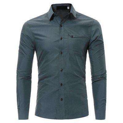 Classic Shirt with One Pocket