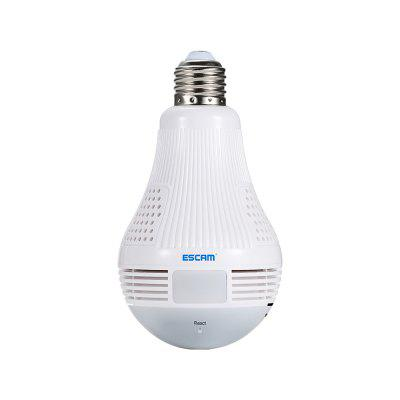 ESCAM QP136 960P WiFi IP Camera 360 Degree LED BulbIP Cameras<br>ESCAM QP136 960P WiFi IP Camera 360 Degree LED Bulb<br><br>APP: ICsee ( downloaded from the Google Play, Apple Store, or scan the QR code )<br>APP Language: Chinese,English<br>Audio Input: Built-in mic.<br>Audio Output: Built-in speaker<br>Backlight Compensation: Auto<br>Brand: ESCAM<br>Compatible Operation Systems: Android,IOS,Microsoft Windows 98/ ME /2000/ XP,Windows 7,Windows 8,Windows Vista<br>Environment: Indoor<br>Features: HD<br>FOV: 360 Degree<br>Frame Rate (FPS): 25fps<br>Image Adjustment: Brightness,Color saturation,Contrast<br>IP camera performance: Real-time video capture and recording, Motion Detection, Screenshot, Remote Control, Interphone<br>IP Mode: Dynamic IP address<br>Language: Chinese,English<br>Local-storage: TF / Micro SD card up to 128GB<br>Maximum Monitoring Range: 5m<br>Minimum Illumination: 0.1Lux<br>Model: QP136<br>Motion Detection Distance: 5m<br>Online Visitor (Max.): 4<br>Operate Temperature (?): 0 - 40 Deg.C<br>Package Contents: 1 x IP Camera, 1 x Base, 1 x English User Manual, 1 x Screws Set<br>Package size (L x W x H): 15.00 x 14.00 x 16.00 cm / 5.91 x 5.51 x 6.3 inches<br>Package weight: 0.2500 kg<br>Pixels: 1.3MP<br>Product size (L x W x H): 8.00 x 8.00 x 13.70 cm / 3.15 x 3.15 x 5.39 inches<br>Product weight: 0.1400 kg<br>Protocol: DHCP,HTTP,NTP,ONVIF,P2P,RTSP<br>Resolution: 1280 x 960<br>Safety: Administrator password protection<br>Sensor: CMOS<br>Sensor size (inch): 1/3<br>Shape: Bulb Camera<br>Technical Feature: WiFi<br>Video format: H.264<br>Video Resolution: 960P<br>Video Standard: NTSC,PAL<br>Waterproof: No<br>Web Browser: IE<br>White Balance: Auto<br>WiFi Distance: 15m<br>Wireless: WiFi 802.11 b/g/n<br>Working Humidity (%) RH: 10 - 95pct<br>Working Voltage: AC 100 - 240V