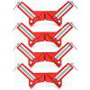 90 Degrees Right Angle Corner Clamp Holder Clamps 4PCS - RED