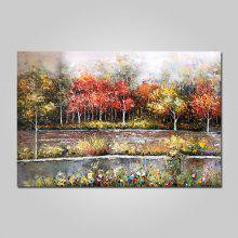 Mintura Canvas Forest Oil Painting Hanging Wall Art