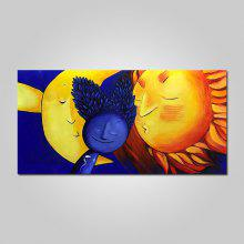 Mintura Abstract Sun Canvas Oil Painting Hanging Wall Art