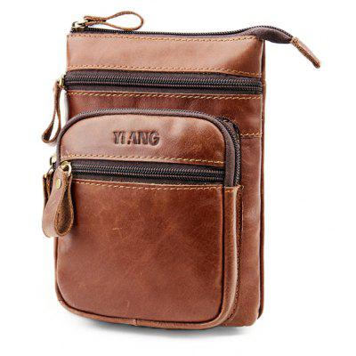 YIANG Casual Multifunctional Leather Cellphone Waist Bag