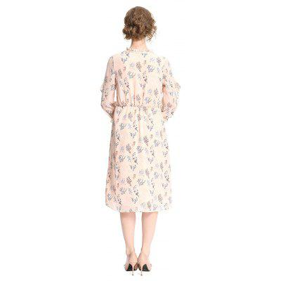 Floral Motifs DressWomens Dresses<br>Floral Motifs Dress<br><br>Dresses Length: Mid-Calf<br>Material: Polyester, Spandex<br>Package Contents: 1 x Dress<br>Package size: 30.00 x 29.00 x 2.00 cm / 11.81 x 11.42 x 0.79 inches<br>Package weight: 0.2870 kg<br>Pattern Type: Floral<br>Product weight: 0.2650 kg<br>Season: Summer<br>Silhouette: A-Line<br>Style: Elegant<br>With Belt: No