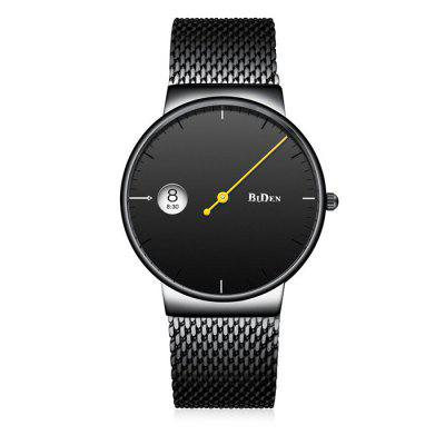 BIDEN B0049 Men Ultrathin Steel Mesh Band Quartz Watch
