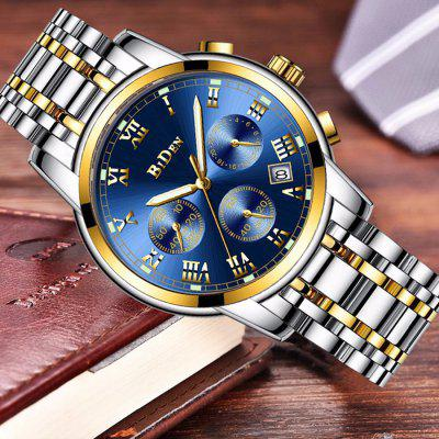 BIDEN B0060 Men Business Stainless Steel Band Quartz WatchMens Watches<br>BIDEN B0060 Men Business Stainless Steel Band Quartz Watch<br><br>Band material: Stainless Steel<br>Brand: BIDEN<br>Case material: Alloy<br>Clasp type: Butterfly clasp<br>Dial size: 4 x 4 x 1.2 cm<br>Display type: Analog<br>Movement type: Quartz watch<br>Package Contents: 1 x Watch, 1 x English User Manual<br>Package size (L x W x H): 24.00 x 6.00 x 3.20 cm / 9.45 x 2.36 x 1.26 inches<br>Package weight: 0.1550 kg<br>Product size (L x W x H): 22.00 x 4.00 x 1.20 cm / 8.66 x 1.57 x 0.47 inches<br>Product weight: 0.1350 kg<br>Shape of the dial: Round<br>Special features: Working sub-dial, Date<br>Watch mirror: Mineral glass<br>Watch style: Fashion, Cool, Business, Casual<br>Watches categories: Men<br>Water resistance: 30 meters
