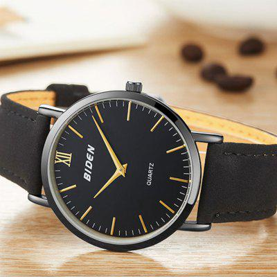 BIDEN B0046 Unisex Simple Clean Casual PU Strap Quartz WatchMens Watches<br>BIDEN B0046 Unisex Simple Clean Casual PU Strap Quartz Watch<br><br>Band material: PU<br>Brand: BIDEN<br>Case material: Alloy<br>Clasp type: Pin buckle<br>Dial size: 4 x 4 x 0.8 cm<br>Display type: Analog<br>Movement type: Quartz watch<br>Package Contents: 1 x Watch, 1 x English User Manual<br>Package size (L x W x H): 26.00 x 6.00 x 2.80 cm / 10.24 x 2.36 x 1.1 inches<br>Package weight: 0.0600 kg<br>Product size (L x W x H): 24.00 x 4.00 x 0.80 cm / 9.45 x 1.57 x 0.31 inches<br>Product weight: 0.0400 kg<br>Shape of the dial: Round<br>Watch mirror: Mineral glass<br>Watch style: Casual, Fashion, Business<br>Watches categories: Men,Women<br>Water resistance: 30 meters