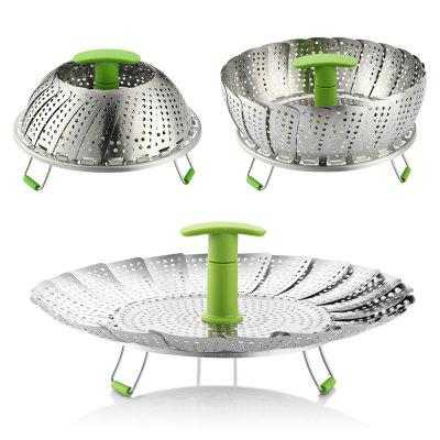 zanmini ZS3 Stainless Steel Collapsible Food Steamer Basket