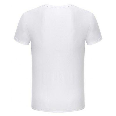 Short Sleeves Round Neck T-shirt with MotifsMens Short Sleeve Tees<br>Short Sleeves Round Neck T-shirt with Motifs<br><br>Material: Cotton Blend, Polyester<br>Neckline: Round Neck<br>Package Content: 1 x T-shirt<br>Package size: 35.00 x 25.00 x 2.00 cm / 13.78 x 9.84 x 0.79 inches<br>Package weight: 0.1700 kg<br>Product weight: 0.1500 kg<br>Season: Summer<br>Sleeve Length: Short Sleeves<br>Style: Casual