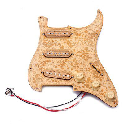 Prewired Loaded Maple Wood Pickguard Alnico V SSS Pickups