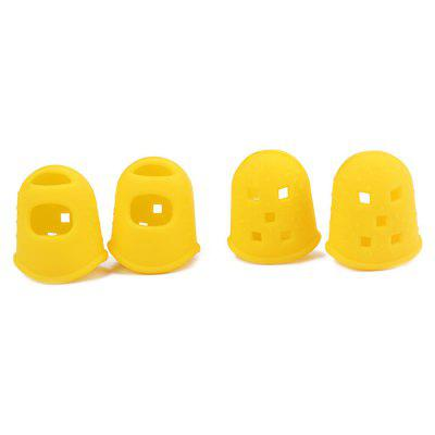 M Size Silicone Guitar Thumb Finger Pick Protector 4pcs