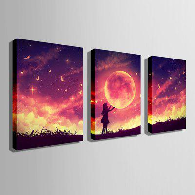 E - HOME LED Luminous Prints Girl Canvas Wall Art 3PCSPainting<br>E - HOME LED Luminous Prints Girl Canvas Wall Art 3PCS<br><br>Brand: E-HOME<br>Craft: Print<br>Form: Three Panels<br>Material: Canvas<br>Package Contents: 3 x Print<br>Package size (L x W x H): 55.00 x 10.00 x 75.00 cm / 21.65 x 3.94 x 29.53 inches<br>Package weight: 2.6000 kg<br>Painting: Without Inner Frame<br>Product size (L x W x H): 50.00 x 2.40 x 70.00 cm / 19.69 x 0.94 x 27.56 inches<br>Product weight: 2.2000 kg<br>Shape: Vertical<br>Style: Modern<br>Subjects: Landscape<br>Suitable Space: Living Room