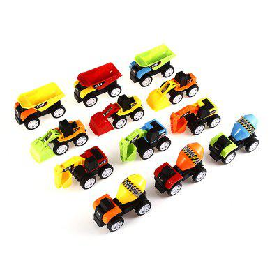 Assorted Pull Back Engineering Trucks  12pcs