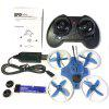 Efly F80 2.4G Indoor Micro FPV RC Racing Drone - BLUE