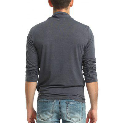 Men Leisure Funnel Neck Long Sleeve T-shirtMens Long Sleeves Tees<br>Men Leisure Funnel Neck Long Sleeve T-shirt<br><br>Material: Cotton, Polyester<br>Neckline: Funnel Neck<br>Package Content: 1 x T-shirt<br>Package size: 30.00 x 20.00 x 2.00 cm / 11.81 x 7.87 x 0.79 inches<br>Package weight: 0.2500 kg<br>Product weight: 0.2300 kg<br>Season: Summer, Spring, Autumn<br>Sleeve Length: Long Sleeves<br>Style: Fashion, Casual