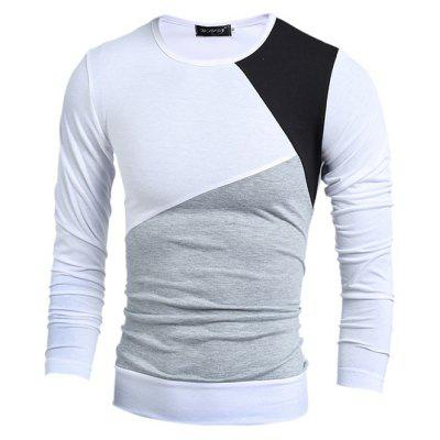 Long Sleeve Splicing T-shirt