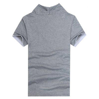 T-shirt with Decorative Diagonal ButtonsMens Short Sleeve Tees<br>T-shirt with Decorative Diagonal Buttons<br><br>Material: Cotton, Polyester<br>Neckline: V Neck<br>Package Content: 1 x T-shirt<br>Package size: 30.00 x 20.00 x 2.00 cm / 11.81 x 7.87 x 0.79 inches<br>Package weight: 0.2300 kg<br>Product weight: 0.2100 kg<br>Season: Summer<br>Sleeve Length: Short Sleeves<br>Style: Casual