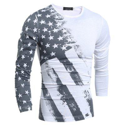 Long Sleeve T-shirt with Stars Motifs
