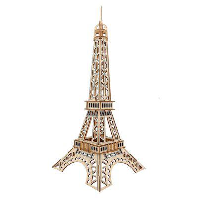DIY 3D Wooden Eiffel Tower Model Puzzle Intelligence Toy