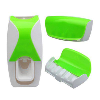 Buy Creative Toothbrush Holder Toothpaste Dispenser GREEN for $6.88 in GearBest store
