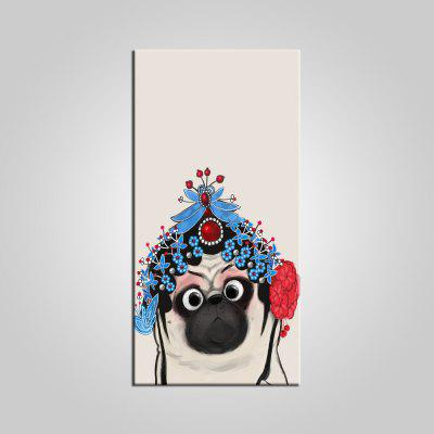 E-HOME Cute Animal Pattern Frameless Canvas Print
