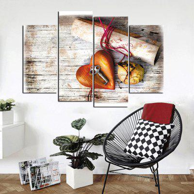 God Painting Heart Key Canvas Wall Decor Print 4pcsPrints<br>God Painting Heart Key Canvas Wall Decor Print 4pcs<br><br>Brand: God Painting<br>Craft: Print<br>Form: Four Panels<br>Material: Canvas<br>Package Contents: 4 x Print<br>Package size (L x W x H): 42.00 x 6.00 x 6.00 cm / 16.54 x 2.36 x 2.36 inches<br>Package weight: 0.3800 kg<br>Painting: Without Inner Frame<br>Product weight: 0.3400 kg<br>Shape: Vertical<br>Style: Fashion, Chic &amp; Modern<br>Subjects: Fashion<br>Suitable Space: Bedroom,Living Room,Pathway