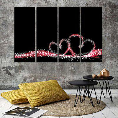 God Painting Heart Pattern Wall Decor Print 4PCSPrints<br>God Painting Heart Pattern Wall Decor Print 4PCS<br><br>Brand: God Painting<br>Craft: Print<br>Form: Four Panels<br>Material: Canvas<br>Package Contents: 4 x Print<br>Package size (L x W x H): 42.00 x 6.00 x 6.00 cm / 16.54 x 2.36 x 2.36 inches<br>Package weight: 0.4400 kg<br>Painting: Without Inner Frame<br>Product weight: 0.4000 kg<br>Shape: Vertical<br>Style: Modern<br>Subjects: Others<br>Suitable Space: Bedroom,Dining Room,Kids Room,Living Room