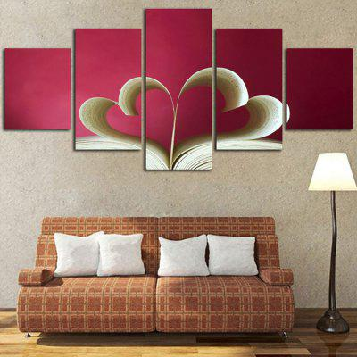 Heart Pattern Canvas Wall Print for Home Decoration 5PCSPrints<br>Heart Pattern Canvas Wall Print for Home Decoration 5PCS<br><br>Craft: Print, Print<br>Form: Five Panels, Five Panels<br>Material: Canvas<br>Package Contents: 5 x Print, 5 x Print<br>Package size (L x W x H): 30.50 x 3.50 x 3.50 cm / 12.01 x 1.38 x 1.38 inches, 30.50 x 3.50 x 3.50 cm / 12.01 x 1.38 x 1.38 inches<br>Package weight: 0.4300 kg, 0.4300 kg<br>Painting: Without Inner Frame, Without Inner Frame<br>Product weight: 0.3500 kg, 0.3500 kg<br>Shape: Vertical, Vertical<br>Style: Modern, Modern<br>Subjects: Leisure, Leisure<br>Suitable Space: Bedroom,Kids Room, Bedroom,Kids Room