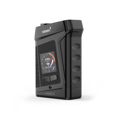 Smoant Ranker 218W TC Box Mod for E CigaretteTemperature Control Mods<br>Smoant Ranker 218W TC Box Mod for E Cigarette<br><br>Accessories type: MOD<br>APV Mod Wattage: 218W<br>Battery Cover Type: Clip-on<br>Battery Form Factor: 18650<br>Battery Quantity: 2pcs ( not included )<br>Brand: Smoant<br>Material: Zinc Alloy, Leather<br>Mod: Temperature Control Mod<br>Package Contents: 1 x Smoant Ranker Mod, 1 x USB Charge and Update Cable, 1 x English User Manual<br>Package size (L x W x H): 12.00 x 8.20 x 5.30 cm / 4.72 x 3.23 x 2.09 inches<br>Package weight: 0.3100 kg<br>Product size (L x W x H): 6.00 x 3.15 x 9.20 cm / 2.36 x 1.24 x 3.62 inches<br>Product weight: 0.1800 kg<br>Temperature Control Range: 200 - 600 Deg.F / 100 - 300 Deg.C