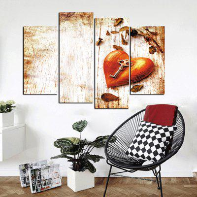 God Painting Key Heart Canvas Wall Decor Print 4pcsPrints<br>God Painting Key Heart Canvas Wall Decor Print 4pcs<br><br>Brand: God Painting<br>Craft: Print<br>Form: Four Panels<br>Material: Canvas<br>Package Contents: 4 x Print<br>Package size (L x W x H): 42.00 x 6.00 x 6.00 cm / 16.54 x 2.36 x 2.36 inches<br>Package weight: 0.3800 kg<br>Painting: Without Inner Frame<br>Product weight: 0.3400 kg<br>Shape: Vertical<br>Style: Novelty, Fashion<br>Subjects: Fashion<br>Suitable Space: Bedroom,Living Room,Pathway