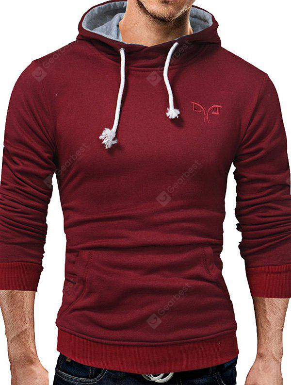 Fashionable Solid Color Hoodie for Men