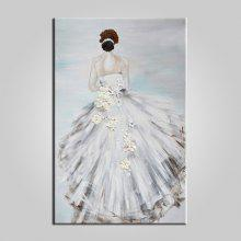 E-HOME Hand-drawn Bride Back Oil Painting coupons