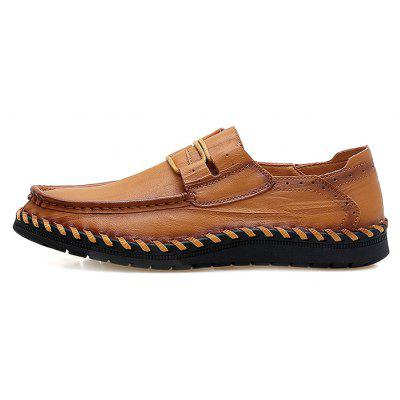 Men Soft Breathable Stitching Driving Oxford ShoesMen's Oxford<br>Men Soft Breathable Stitching Driving Oxford Shoes<br><br>Closure Type: Slip-On<br>Contents: 1 x Pair of Shoes, 1 x Box<br>Function: Slip Resistant<br>Materials: Rubber, Leather<br>Occasion: Tea Party, Shopping, Office, Holiday, Party, Casual, Daily, Dress<br>Outsole Material: Rubber<br>Package Size ( L x W x H ): 30.00 x 20.00 x 10.00 cm / 11.81 x 7.87 x 3.94 inches<br>Package weight: 0.6500 kg<br>Pattern Type: Solid<br>Product weight: 0.6000 kg<br>Seasons: Autumn,Spring<br>Style: Modern, Leisure, Fashion, Comfortable, Casual, Business<br>Toe Shape: Round Toe<br>Type: Casual Leather Shoes<br>Upper Material: Leather
