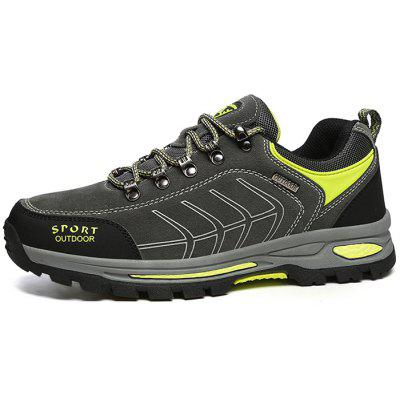 Men Outdoor Crash Toe Lightweight Hiking Athletic ShoesAthletic Shoes<br>Men Outdoor Crash Toe Lightweight Hiking Athletic Shoes<br><br>Closure Type: Lace-Up<br>Contents: 1 x Pair of Shoes, 1 x Box<br>Function: Slip Resistant<br>Materials: Mesh, Rubber, Leather<br>Occasion: Sports, Shopping, Riding, Outdoor Clothing, Casual, Running, Daily, Holiday<br>Outsole Material: Rubber<br>Package Size ( L x W x H ): 30.00 x 18.00 x 11.00 cm / 11.81 x 7.09 x 4.33 inches<br>Package weight: 0.8000 kg<br>Product weight: 0.7500 kg<br>Seasons: Autumn,Spring<br>Style: Modern, Leisure, Fashion, Comfortable, Casual<br>Toe Shape: Round Toe<br>Type: Sports Shoes<br>Upper Material: Leather,Mesh
