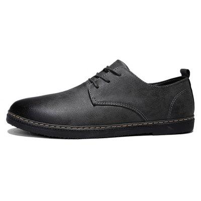 Men Vintage Simple Stitching Casual Oxford ShoesMen's Oxford<br>Men Vintage Simple Stitching Casual Oxford Shoes<br><br>Closure Type: Lace-Up<br>Contents: 1 x Pair of Shoes, 1 x Box<br>Function: Slip Resistant<br>Materials: Rubber, Artificial leather<br>Occasion: Sports, Shopping, Office, Formal, Party, Casual, Daily, Dress<br>Outsole Material: Rubber<br>Package Size ( L x W x H ): 30.00 x 20.00 x 10.00 cm / 11.81 x 7.87 x 3.94 inches<br>Package weight: 0.7500 kg<br>Pattern Type: Solid<br>Product weight: 0.7000 kg<br>Seasons: Autumn,Spring<br>Style: Modern, Leisure, Formal, Fashion, Comfortable, Casual, Business<br>Toe Shape: Round Toe<br>Type: Casual Leather Shoes<br>Upper Material: Artificial leather
