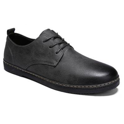 Men Vintage Simple Stitching Casual Oxford Shoes